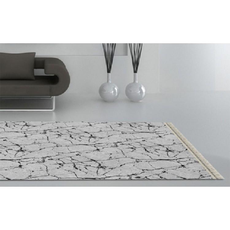 Granit Mermer Desen Gri Siyah Kaymaz Taban Halı