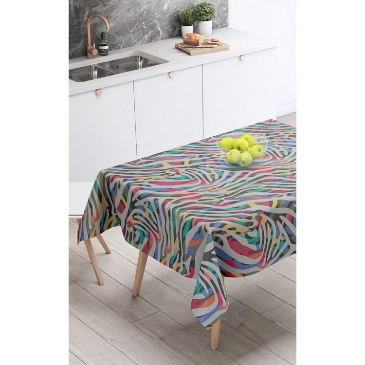 Renkli Zebra Desen Masa Örtüsü