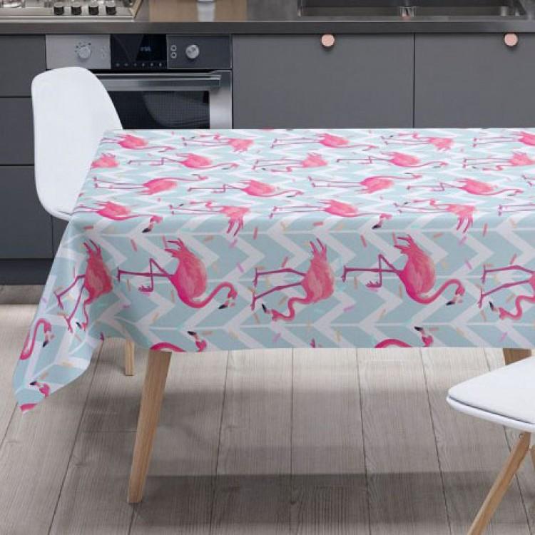 Sevimli Flamingo Desen Masa Örtüsü